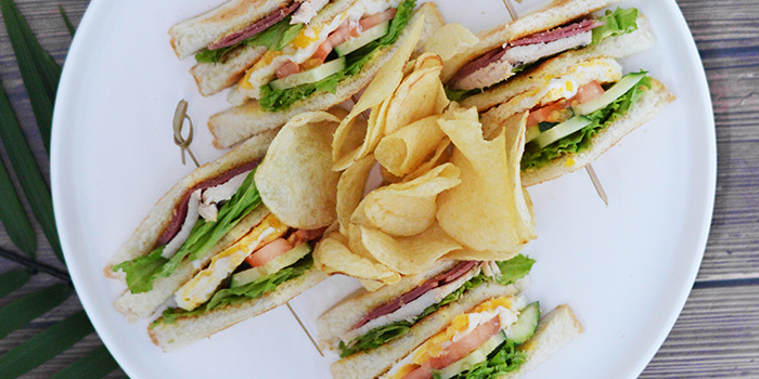 Club Sandwich from Three Degree Cafe at NTU Alumni Club in Buona Vista, Singapore