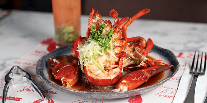 Cantonese style steam lobster from Pince & Pints Restaurant and Bar in Duxton, Singapore