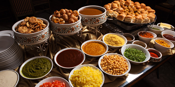 Chaat Counter from Shahi Maharani Indian Restaurant in Raffles City Shopping Centre on North Bridge Road Singapore