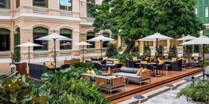 Dining Area from the Courtyard at The House on Sathorn, Bangkok