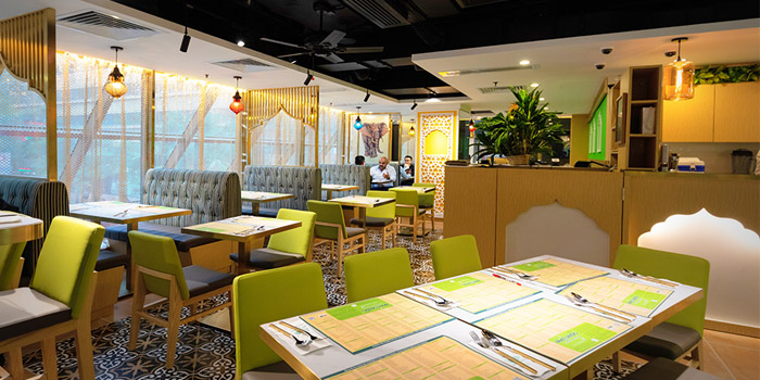 Interior, Woodlands Indian Vegetarian Restaurant, Tsim Sha Tsui, Hong Kong