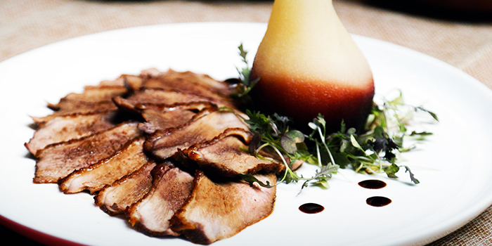 Duck Breast with Barolo Chinato Pears (10 Jan to 19 Feb) from Amo in Clarke Quay, Singapore