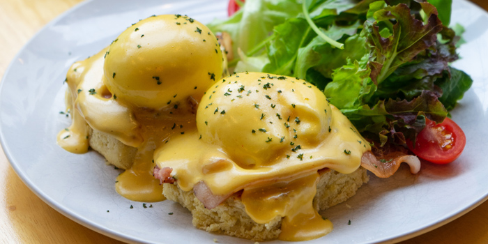 Eggs Benedict from Chu Chocolate Bar and Cafe (Asoke) at 388 Exchange Tower Sukhumvit Rd, Khlong Toei Bangkok