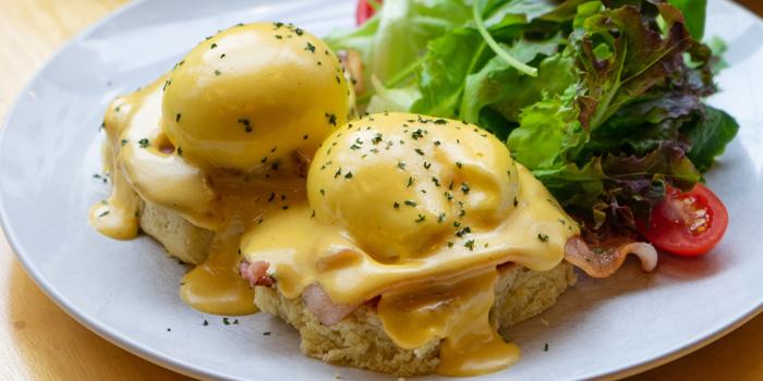 Eggs Benedict from Chu Chocolate Bar and Cafe (Asoke) at 388 Exchange Tower Sukhumvit Rd, Khlong Toei Bangkok