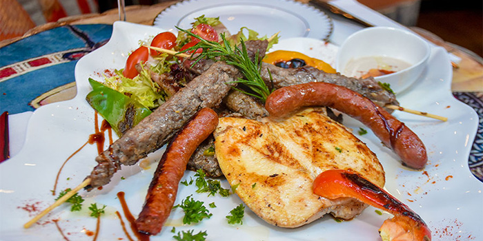 Egyptian Mixed Grilled Platter, Zooba Bar & Grill, Tsim Sha Tsui, Hong Kong