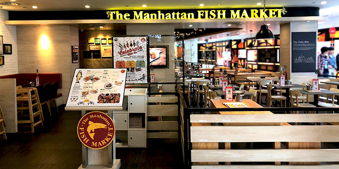 Exterior of The Manhattan Fish Market (Marina Square) in City Hall, Singapore