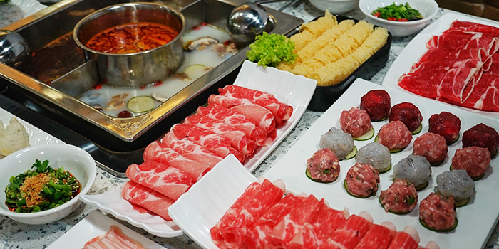 Food Spread from Shan Pin Steamboat in Toa Payoh, Singapore