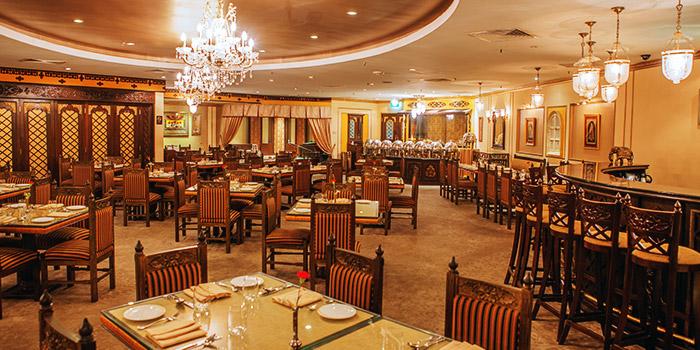 Full Ambience of Shahi Maharani Indian Restaurant in Raffles City Shopping Centre on North Bridge Road Singapore
