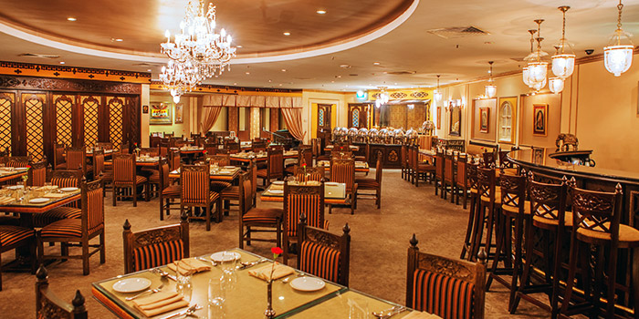 Full Ambience of Shahi Maharani Indian Restaurant in Raffles City Shopping Centre on North Bridge Road Singapore