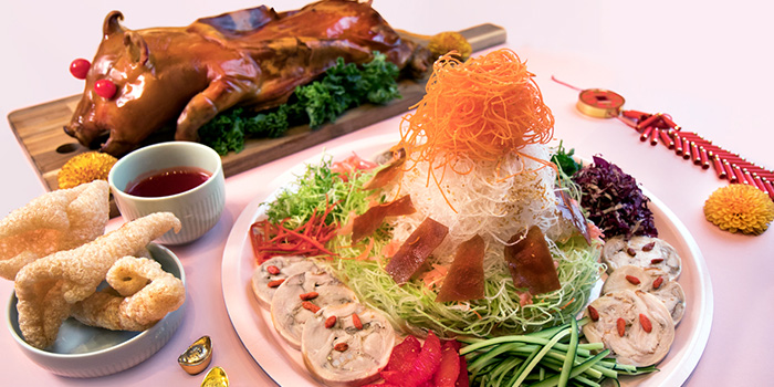Golden Fortune Suckling Pig Lo Hei (22 Jan to 19 Feb) from Sky22 at Courtyard by Marriott Singapore Novena in Novena, Singapore