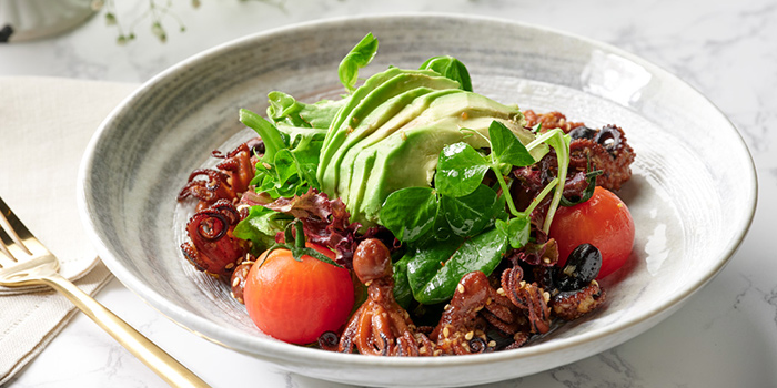 Grilled Baby Octopus Salad from Shutters at Amara Sanctuary in Sentosa, Singapore