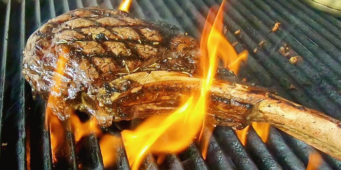 Grilled Tomahawk from New York Style Steak & Burger at 28 Soi Sukhumvit 22 Park 22 Bangkok, Khlong Toei Bangkok
