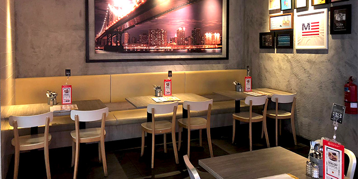 Interior of The Manhattan Fish Market (Marina Square) in City Hall, Singapore