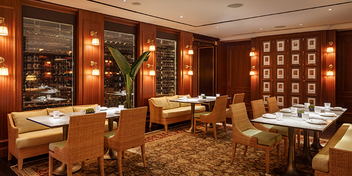 Interior from Six Senses Brasserie in Tanjong Pagar, Singapore