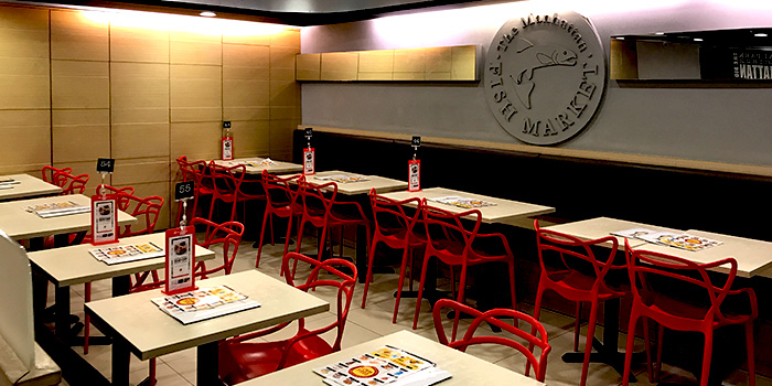 Interior of The Manhattan Fish Market (Plaza Singapura) in Orchard, Singapore