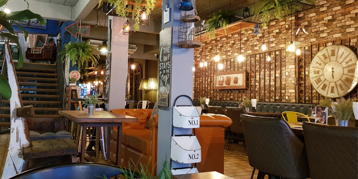 Interior of The Zula Phuket Turkish Restaurant & Cafè Patong in Patong, Phuket, Thailand.