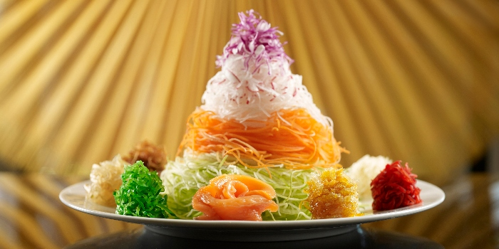 King Ora Salmon Yusheng (CNY) from Yellow Pot Restaurant and Bar in Duxton, Singapore
