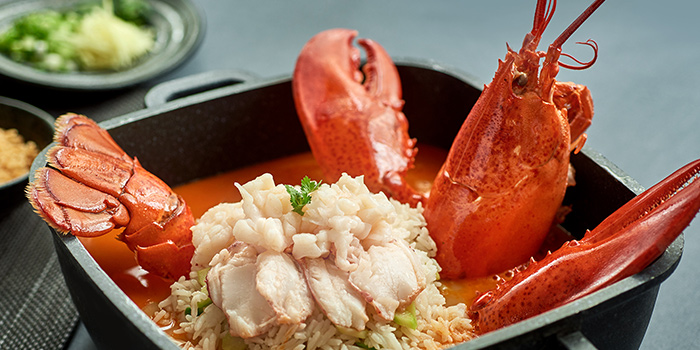 Live Boston Lobster and Fragrant Rice in Rich Seafood from JUMBO Seafood (ION Orchard) in Orchard, Singapore