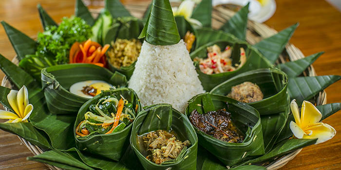Food from The Amateras Restaurant, Ubud, Bali