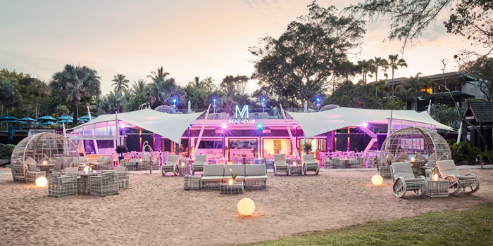 Outdoor of M Beach Club at Maikhao,  Phuket, Thailand.