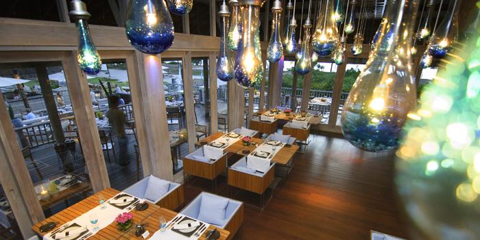 Restaurant Atmosphere of Sea Fire Salt at Anantara Maikhao Resort, Phuket, Thailand. of Sea Fire Salt at Anantara Maikhao Resort, Phuket, Thailand.