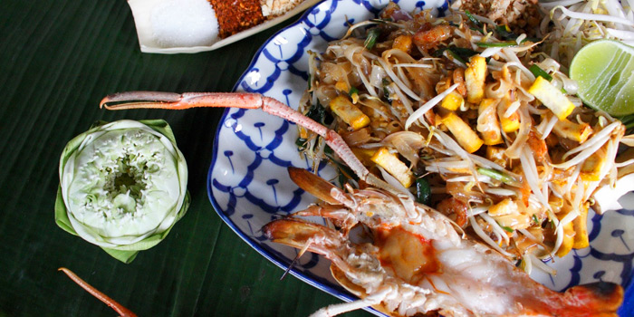Pad Thai with River Prawns from Supatra River House at 266 Soi Wat Rakhang Arunamarin Road Siriraj, Bangkok Noi Bangkok