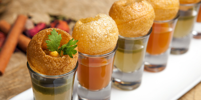 Panipuri from Shahi Maharani Indian Restaurant in Raffles City Shopping Centre on North Bridge Road Singapore