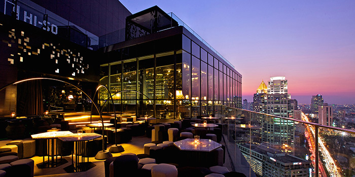 Terrace Area of Park Society at 29/F, Sofitel So Bangkok 2 North Sathorn Road Bangrak Bangkok