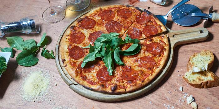 Pizza Pepperoni from Pizza Connection at Windsor Suite Hotel Soi Sukhumvit 20, Sukhumvit Rd Khlong Toei Nuea, Watthana Bangkok
