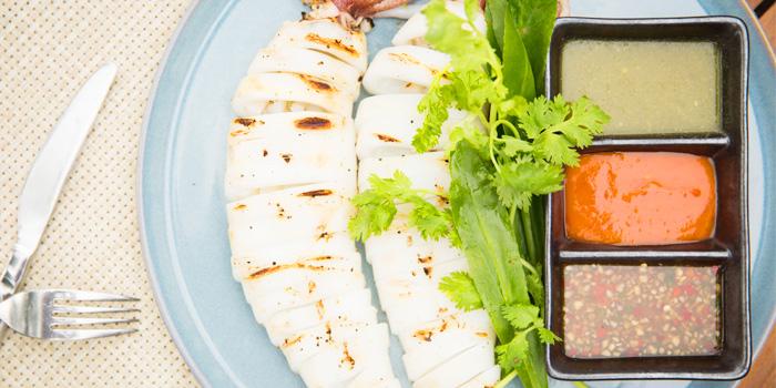 Pla Muek Yang of Seafood from Sea Food at Trisara in Cherngtalay, Phuket, Thailand
