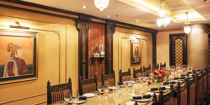 Private Room of Shahi Maharani Indian Restaurant in Raffles City Shopping Centre on North Bridge Road Singapore