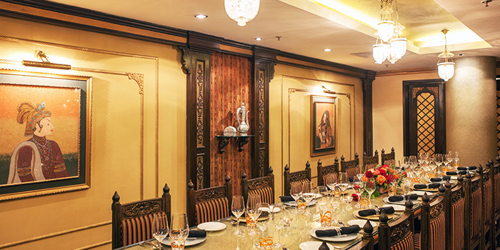 Private Room of Shahi Maharani Indian Restaurant in Raffles City Shopping Centre on North Bridge Road Singapore