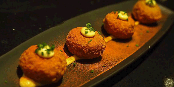 Risotto Croquettes from Bōruto in Chinatown, Singapore