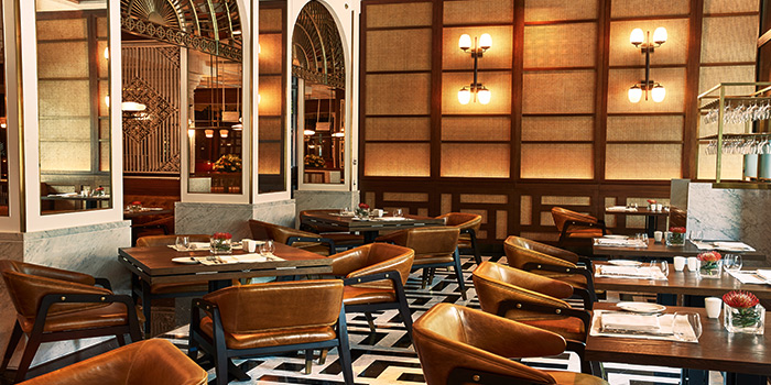 Interior of 15 Stamford by Alvin Leung at The Capitol Kempinski Hotel in City Hall, Singapore
