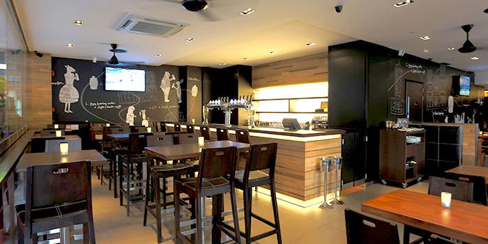 Interior of Brotzeit German Bier Bar & Restaurant (Katong) in Marine Parade, Singapore