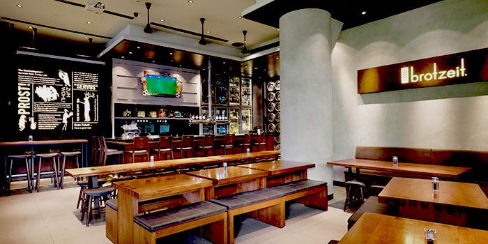 Interior of Brotzeit German Bier Bar & Restaurant (Raffles City) in City Hall, Singapore