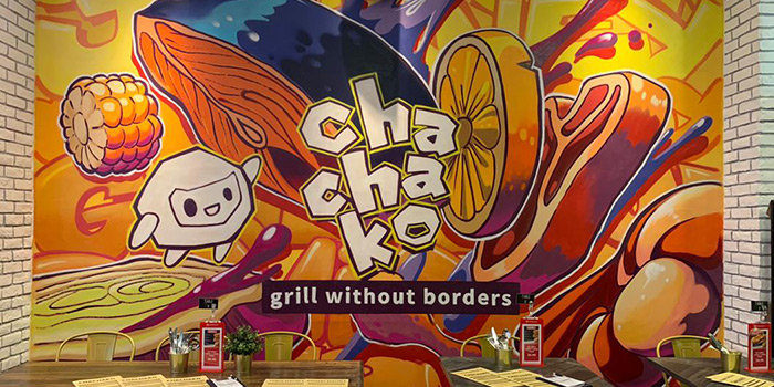 Mural of Chachako at Jurong Point in Jurong, Singapore