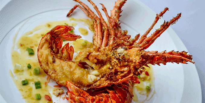 Stir Fried King Prawn from Changi Beach Seafood Restaurant in Changi, Singapore