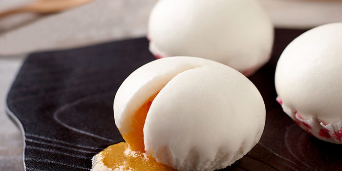 Steamed Salted Egg Custard Buns from JUMBO Seafood (ION Orchard) in Orchard, Singapore