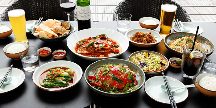 Food Spread from JustIN Flavours of Asia in Marina Bay, Singapore