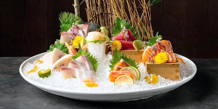 Sashimi from Magosaburo at Ngee Ann City in Orchard, Singapore