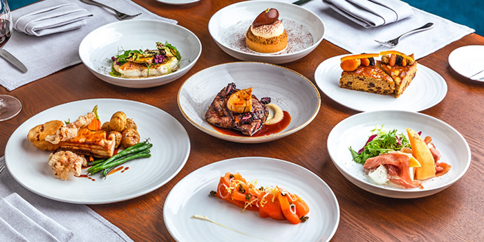Food Spread from Origin Grill at Shangri-La Hotel in Orchard, Singapore
