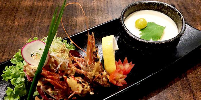 Tepan Prawn Chawanmushi from Rakuichi Japanese Restaurant in Dempsey, Singapore