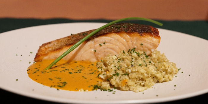 Salmon Pan Seared with Cauliflower Couscous at Mother Monster, Plaza Indonesia