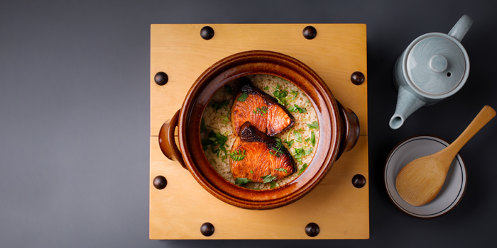 Salmon with Rice from Kitaohji Ginza Thailand at 212 Soi Sukumvit 55 Khwaeng Khlong Tan Nuea, Watthana Bangkok