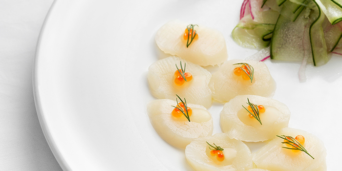 Scallop Carpaccio from Tablescape Restaurant & Bar at Grand Park City Hall in City Hall, Singapore