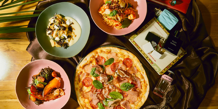 Selection of Pizza from The Kitchen Table at W Bangkok on North Sathorn Road