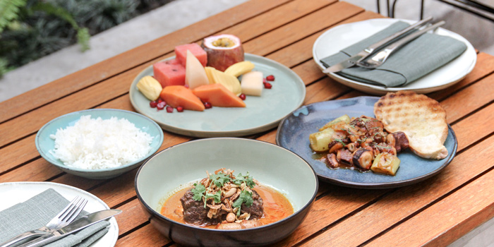 Set Lunch from the Courtyard at The House on Sathorn, Bangkok