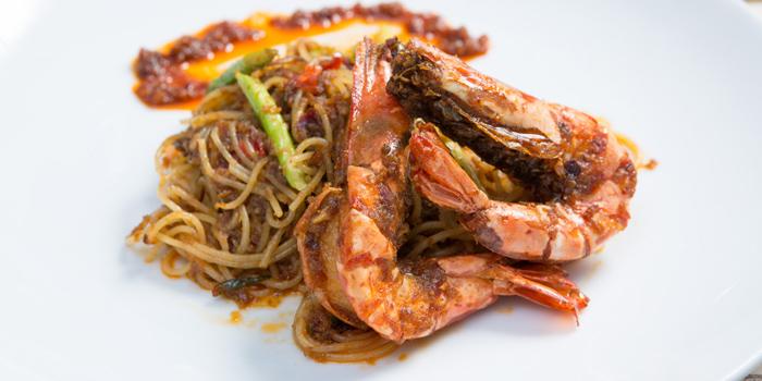 Spaghettini with Mun Goong from Met Cafe at 918 Soi thonglor sukhumvit 55 Klongton nue, khet wattana Bangkok