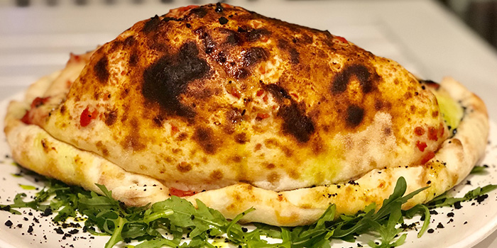 Super Calzone from Vespetta Italian Restaurant in Boat Quay, Singapore